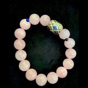 Bracelet-stretch pink stones beads